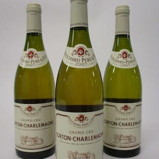 6 bouteilles CORTON CHARLEMAGNE 2007 Grand Cru