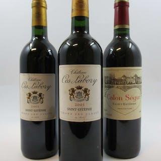 6 bouteilles 3 bts : CHÂTEAU COS LABORY 2003 5è GC Saint Estèphe (étiquettes