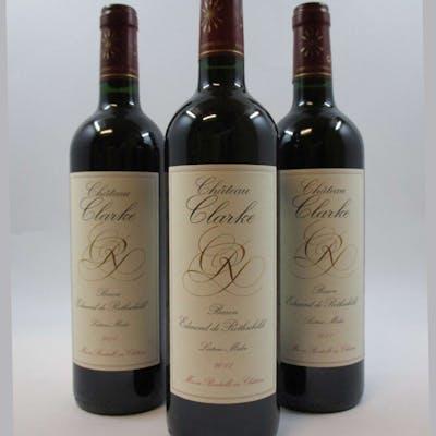 6 bouteilles CHÂTEAU CLARKE 2011 Listrac Médoc