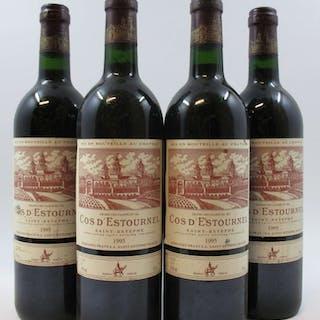 4 bouteilles CHÂTEAU COS D'ESTOURNEL 1995 2è GC Saint Estèphe (étiquettes