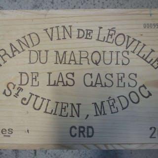 6 bouteilles CHÂTEAU LEOVILLE LAS CASES 2001 2è GC Saint Julien Caisse