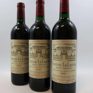 6 bouteilles CHÂTEAU LA LAGUNE 1995 3è GC Haut Médoc (base goulot