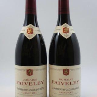 2 bouteilles CHAMBERTIN CLOS DE BEZE 2008 Grand Cru Domaine