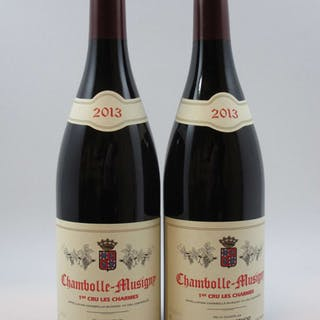 2 bouteilles CHAMBOLLE MUSIGNY 2013 1er cru Les Charmes