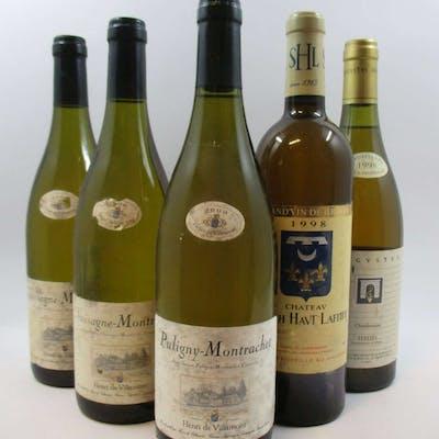5 bouteilles 2 bts : CHASSAGNE MONTRACHET 2000 Henri de Villamont