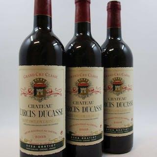 6 bouteilles CHÂTEAU LARCIS DUCASSE 2003 GCC Saint Emilion