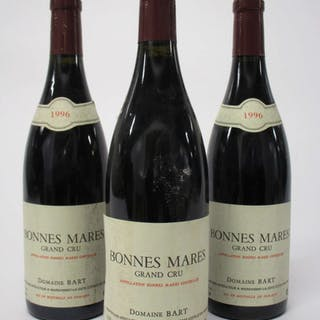 6 bouteilles BONNES MARES 1996 Grand Cru. Domaine Bart (étiquettes