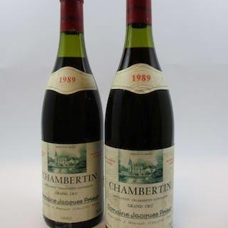 2 bouteilles CHAMBERTIN 1989 Grand Cru