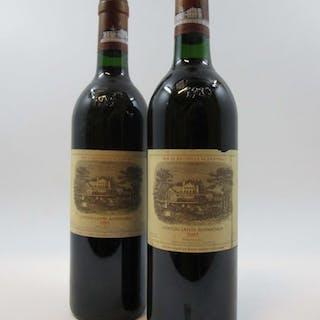 2 bouteilles CHÂTEAU LAFITE ROTHSCHILD 1985 1er GC Pauillac (1 base goulot