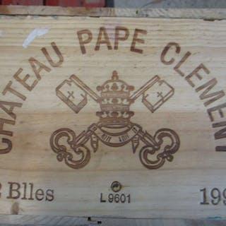 12 bouteilles CHÂTEAU PAPE CLEMENT 1996 CC Pessac Léognan (étiquettes