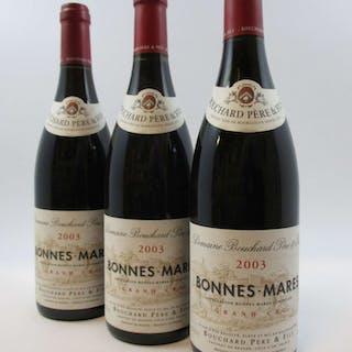 3 bouteilles BONNES MARES 2003 Grand Cru