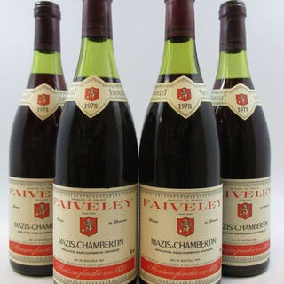 4 bouteilles MAZIS CHAMBERTIN 1978 Grand Cru