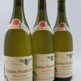 3 bouteilles CHABLIS 2011 Grand Cru Les Clos
