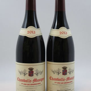 2 bouteilles CHAMBOLLE MUSIGNY 2013 1er cru Les Gruenchers