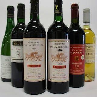 """11 bouteilles 2 bts : MAURY 1995 VDN. """"Ruby"""" Domaine de la Ferrière"""