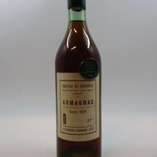 1 bouteille ARMAGNAC CHÂTEAU DU BOURDIEU 1830 Saint Christie d'Armagnac