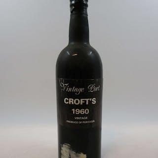 1 bouteille PORTO CROFT'S 1960 Vintage (étiquette léger abimée)