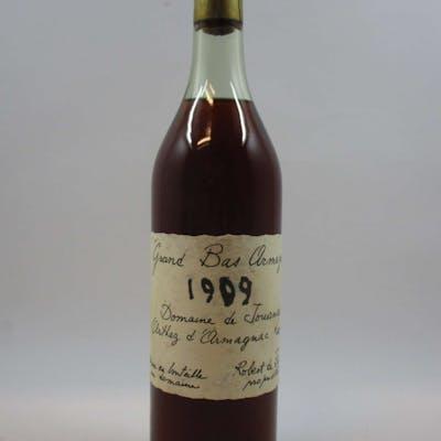 1 bouteille BAS ARMAGNAC DOMAINE DE JOUANDA supposée 1909 Domaine de Jouanda