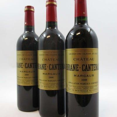 12 bouteilles CHÂTEAU BRANE CANTENAC 2000 2è GC Margaux
