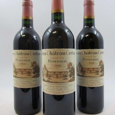 6 bouteilles CHÂTEAU VIEUX CHÂTEAU CERTAN 2000 Pomerol