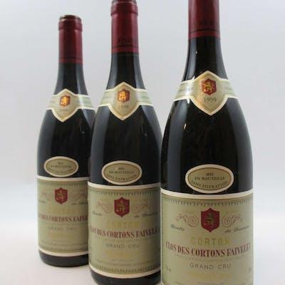 6 bouteilles CORTON 1999 Clos des Cortons