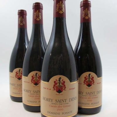 12 bouteilles MOREY SAINT DENIS 1999 Cuvée des Grives