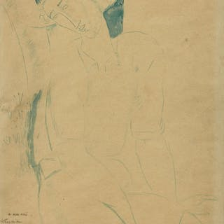 Amedeo MODIGLIANI, Amedeo MODIGLIANI 1884 - 1920 Jeune homme assis