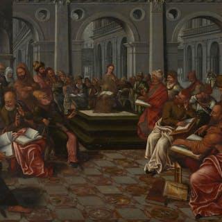 Ecole flamande vers 1600, Ecole flamande vers 1600 Le Christ parmi les docteurs