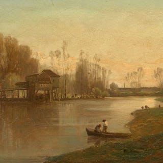 """Amédée BAUDIT, Amédée BAUDIT Genève, 1826 - Bordeaux, 1890 """"Moulin"""