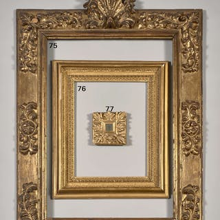 Italie, XVIIIe siècle, Italie, XVIIIe siècle Cadre en bois sculpté et doré