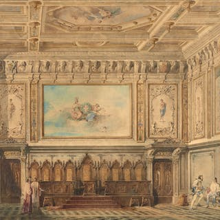 Giovanni Emilio CAVENAGHI, Giovanni Emilio CAVENAGHI 1852 - 1876 Intérieur