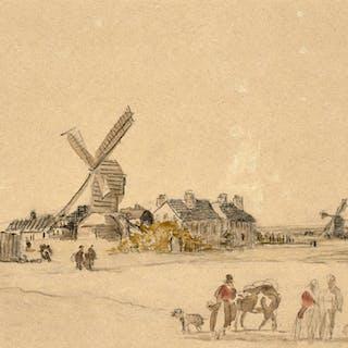Georges MICHEL, Georges MICHEL Paris, 1763 - 1843 Paysage au moulin