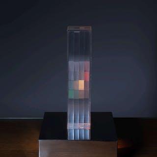 Gianni COLOMBO, Gianni COLOMBO 1937 - 1993 Lampe cinétique dite «Cromostrutturaz
