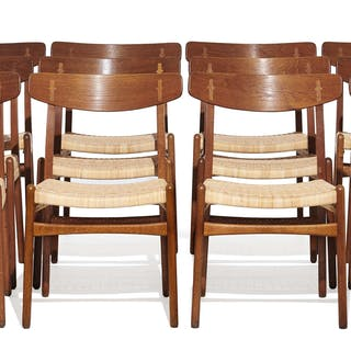 Hans J. WEGNER, Hans J. WEGNER 1914 - 2007 Suite de douze chaises