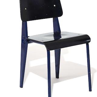 Jean PROUVE, Jean PROUVE 1901 - 1984 Rare chaise mod. Cafétéria n°300