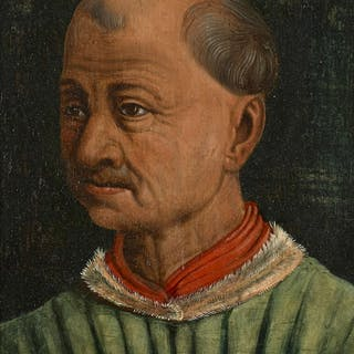 Ecole française vers 1500, Ecole française vers 1500 Portrait d'homme