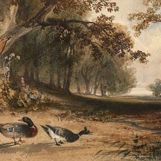 Newton FIELDING, Newton FIELDING Londres, 1799 - Paris, 1856 Couple