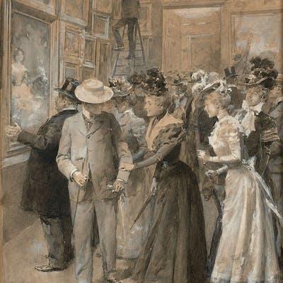 Ludovico MARCHETTI, Ludovico MARCHETTI Rome, 1853 - Paris, 1909 Visiteurs