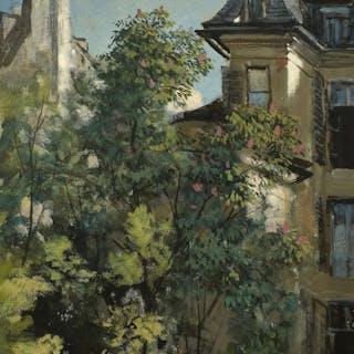 Isidore PILS, Isidore PILS Paris, 1813 - Douarnenez, 1875 Un jardin en ville
