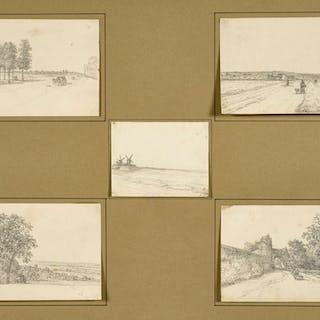 Georges MICHEL, Georges MICHEL Paris, 1763 - 1843 Paysages, dont une