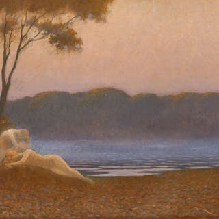 "Alphonse OSBERT, Alphonse OSBERT Paris, 1857 - 1939 ""Les nymphes endormies"""