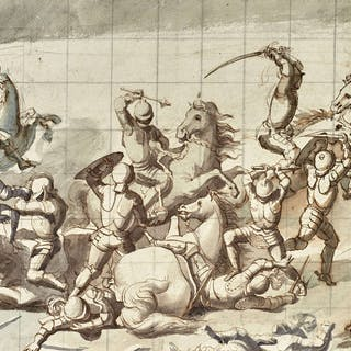 Ecole italienne néoclassique, Ecole italienne néoclassique Scène de combat