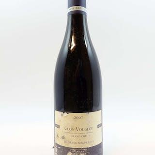 1 bouteille CLOS DE VOUGEOT 2007 Grand Cru Le Grand Maupertui