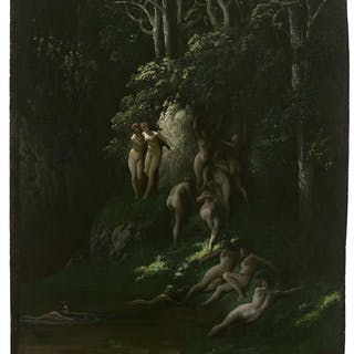 Gustave DORÉ, Gustave DORÉ Strasbourg, 1832 - Paris, 1883 Les Nymphes