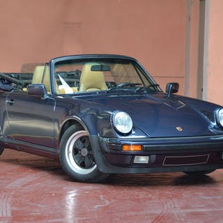 1987 Porsche 911 3.2L Cabriolet Turbo Look Usine, 1987 Porsche 911