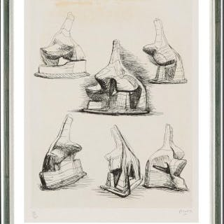 Studies for Head and Shoulders Sculpture, 1967