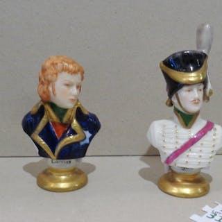 Quattro piccoli busti raffiguranti generali napoleonici...