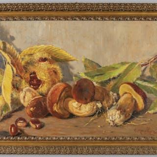 AMEDEO MERELLO (1890-1979) Delizie di ottobre olio su...