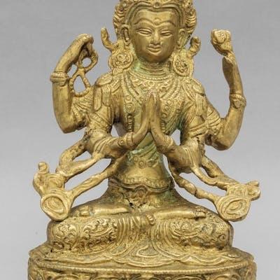 Divinità orientale in bronzo h.cm.22