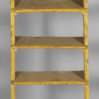 Scala da biblioteca in legno laccato a cinque gradini